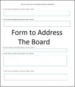 Address the Board