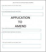 Application to Amend