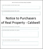 Notice to Purchasers Caldwell