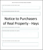 Notice to Purchasers Hays